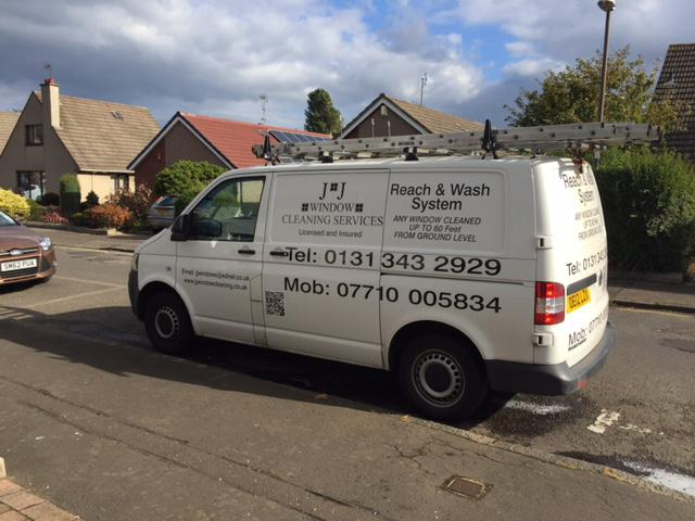 JJ Window Cleaning Van