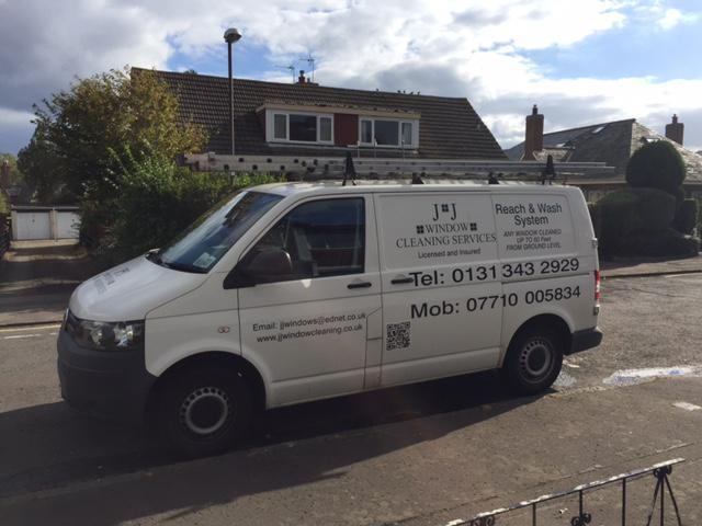 JJ Winow Cleaning Van
